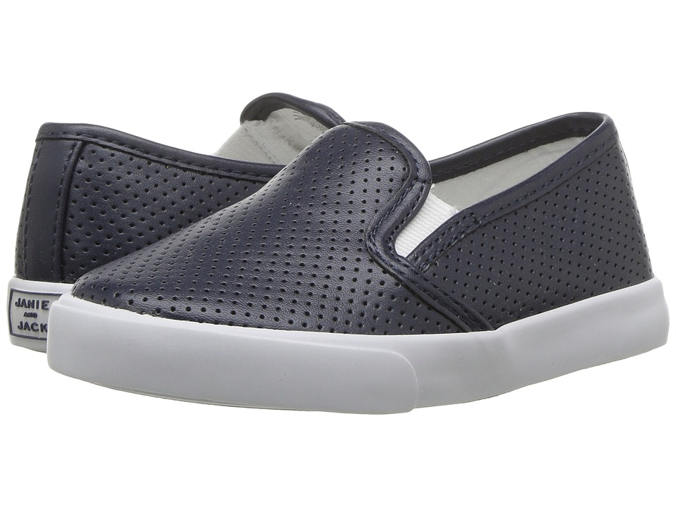 Janie and Jack - Perforated Slip-On Shoe (Toddler/Little Kid/Big Kid) (Connor Navy) Boys Shoes