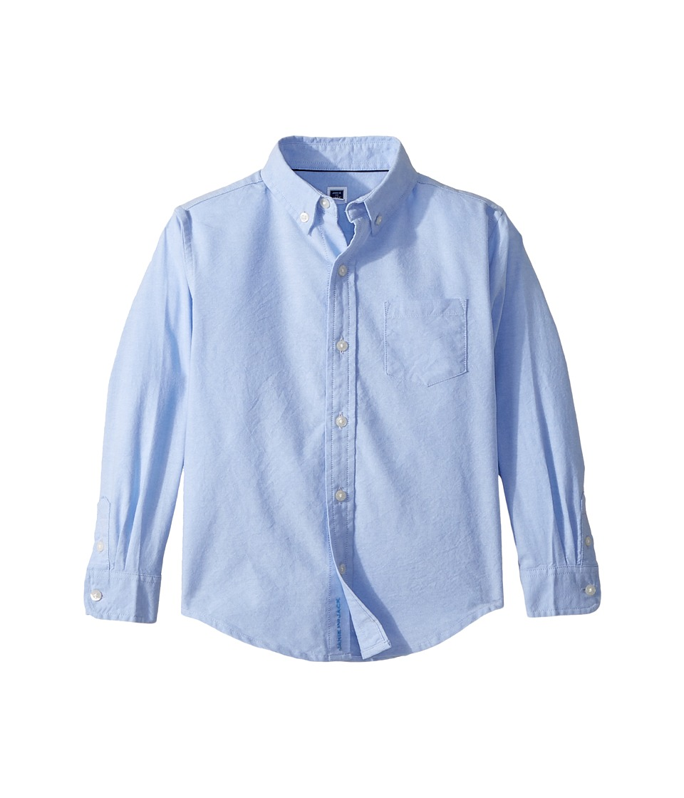 Janie and Jack - Long Sleeve Oxford Button-Up Shirt (Toddler/Little Kids/Big Kids) (Cornflower Blue) Boys Long Sleeve Button Up