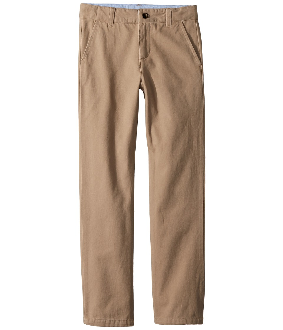 Janie and Jack - Twill Flat Front Pants (Toddler/Little Kids/Big Kids) (Khaki) Boys Casual Pants