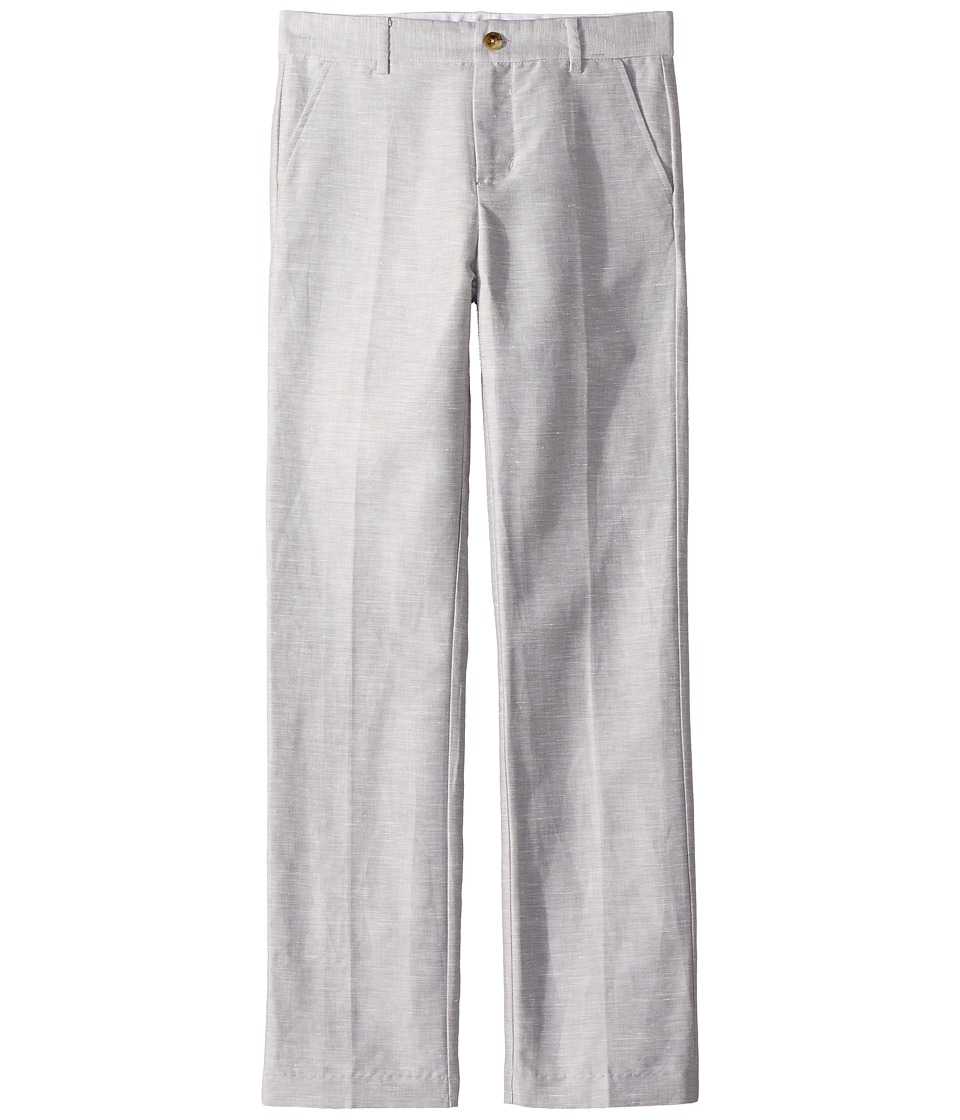 Janie and Jack - Linen Suit Pants (Toddler/Little Kids/Big Kids) (Cloud Grey) Boys Casual Pants