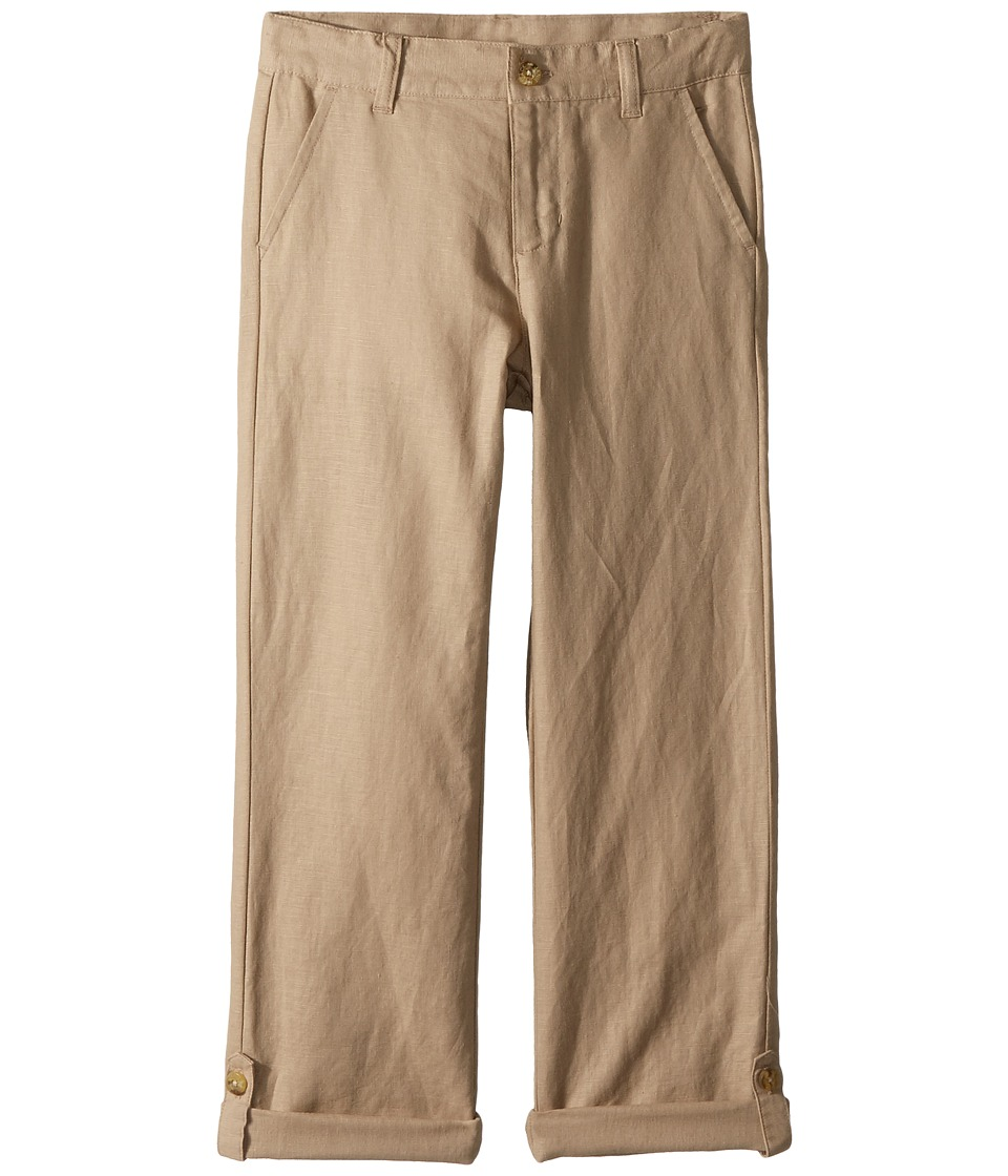Janie and Jack - Linen Roll-Up Pants (Toddler/Little Kids/Big Kids) (Khaki) Boys Casual Pants