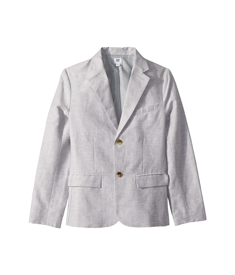 Janie and Jack - Linen Blazer (Toddler/Little Kids/Big Kids) (Cloud Grey) Boys Jacket
