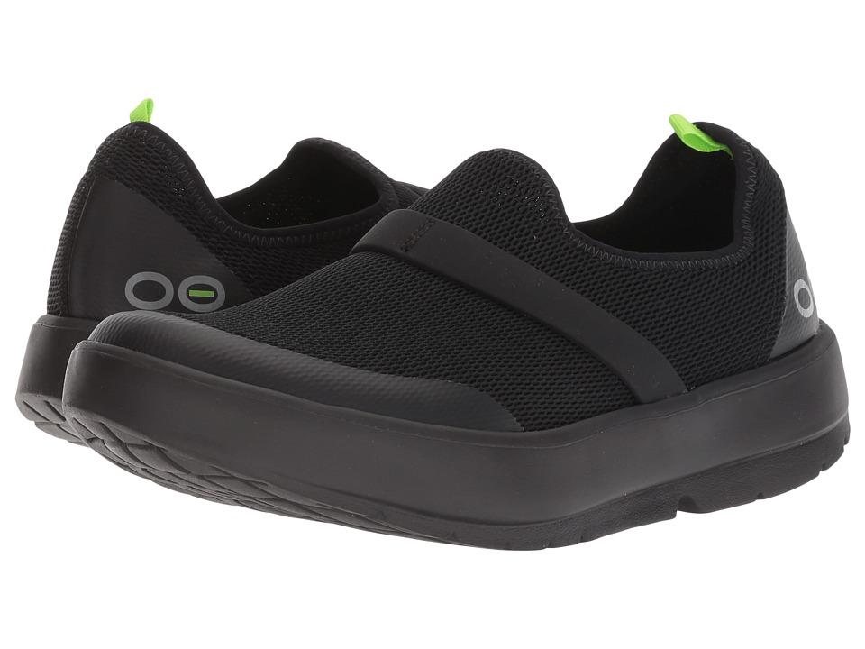OOFOS Oomg (Black/Black) Slip-On Shoes