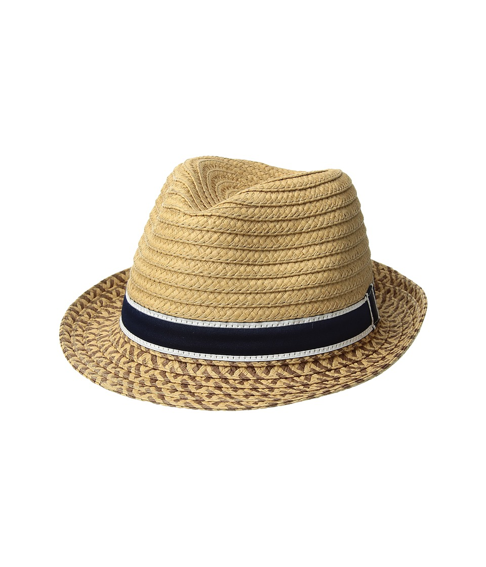 Janie and Jack - Straw Fedora (Toddler/Little Kid/Big Kid) (Multicolor) Fedora Hats