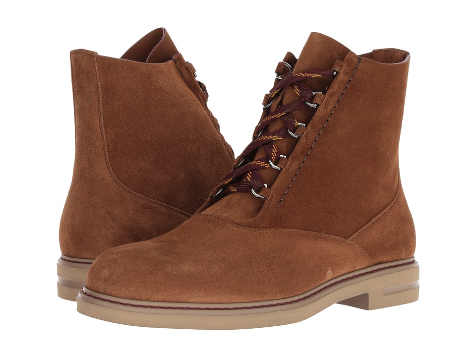 Etro - Suede Lace-Up Boot (Tan) Mens Boots