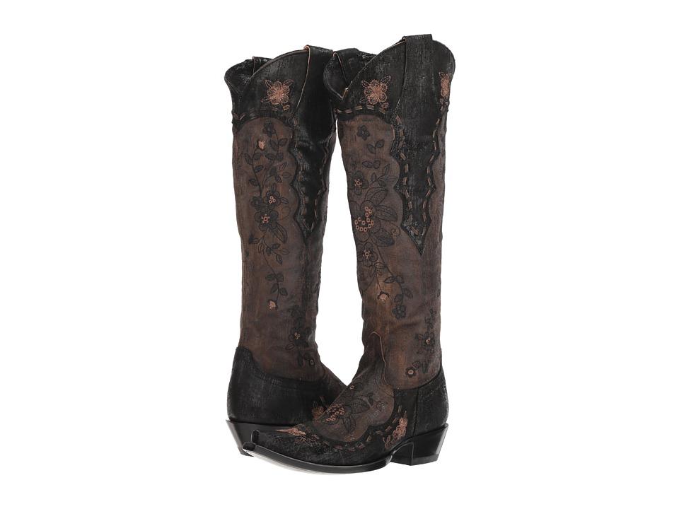 Old Gringo Bonnie Mayra (Brown/Black) Women's Cowboy Boots