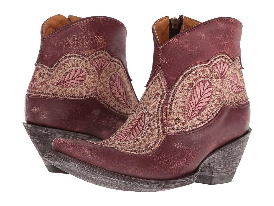 Old Gringo Bianca (Wine) Women's Cowboy Boots