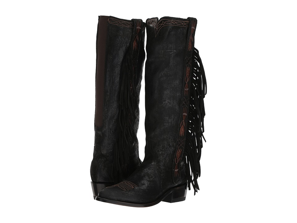 Old Gringo Acoma Tall (Black) Women's Cowboy Boots