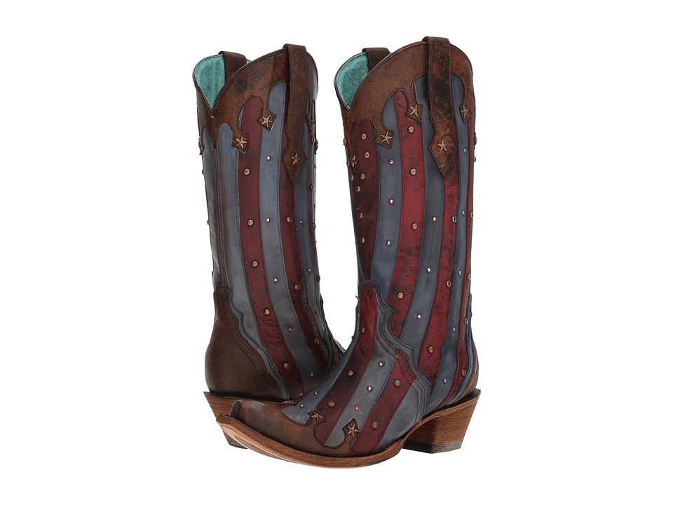 Corral Boots C3373 (Red/Blue) Women's Cowboy Boots
