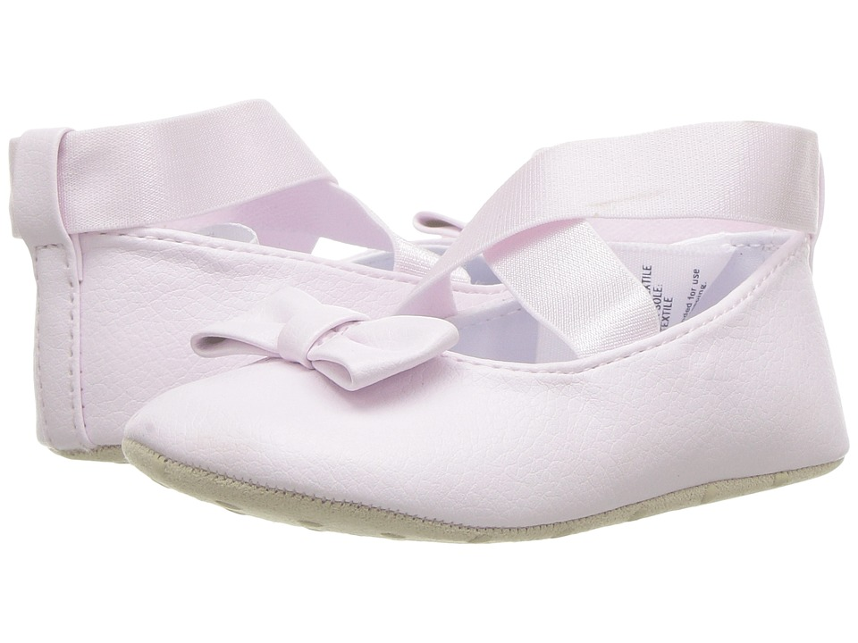 Janie and Jack - Cross Strap Ballet Flat (Infant) (Pink) Girls Shoes