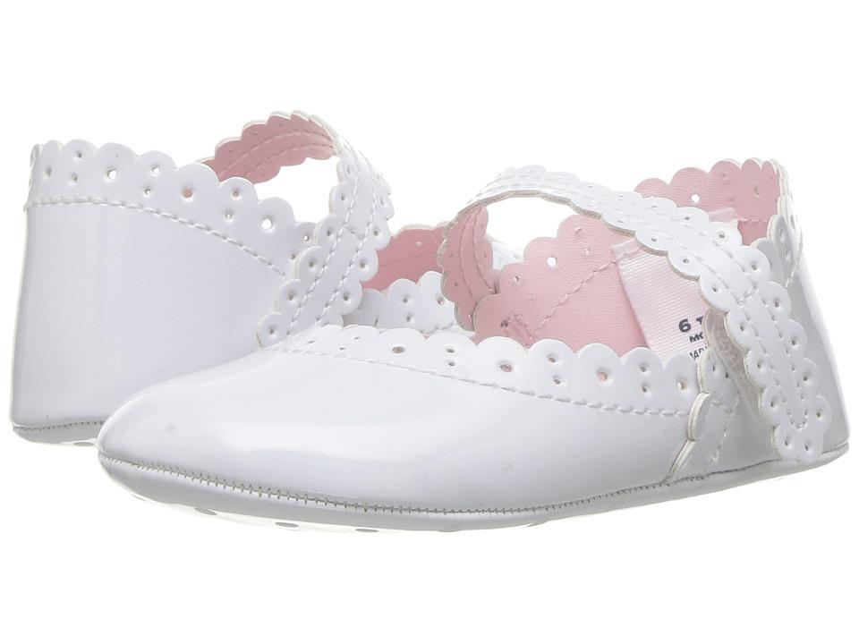 Janie and Jack - Eyelet Crib Shoe (Infant) (White) Girls Shoes
