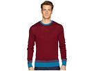 Etro Crew Neck Check Trim Sweater