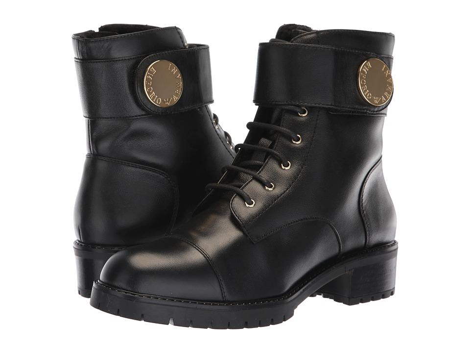 Emporio Armani Calf Leather Boot (Black)