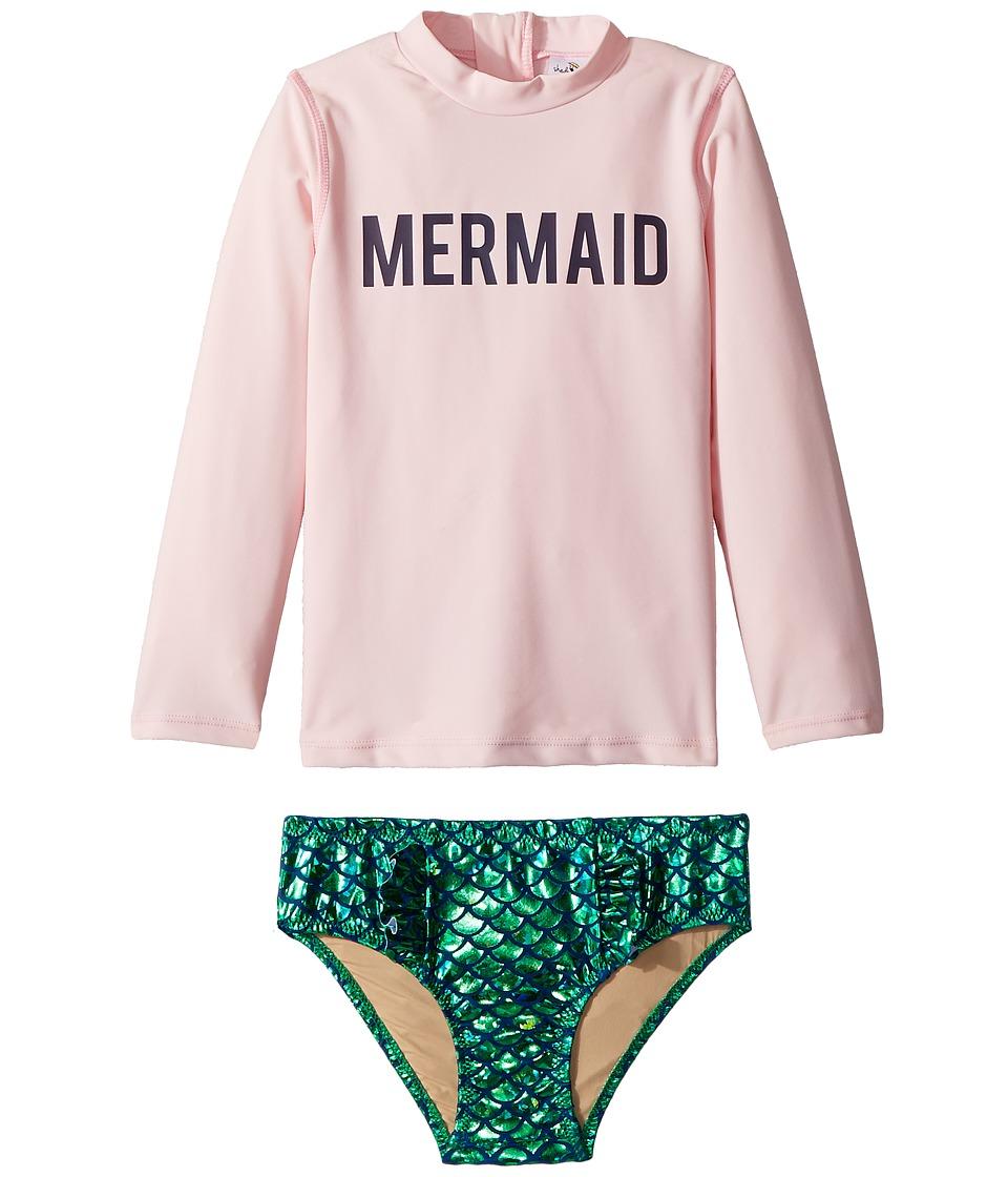 shade critters - Mermaid Rashguard Set (Infant/Toddler) (Pink) Girls Swimwear Sets