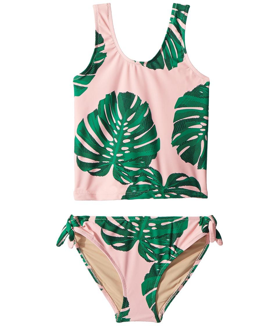 shade critters - Botanical Tankini Set (Toddler/Little Kids/Big Kids) (Pink) Girls Swimwear Sets