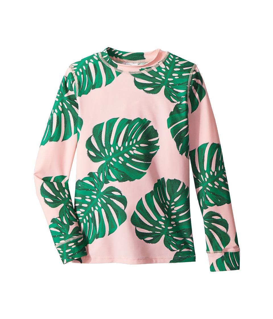 shade critters - Botanical Long Sleeve Rashguard (Toddler/Little Kids/Big Kids) (Pink) Girls Swimwear