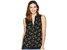 Lucky Brand Floral Sleeveless Button Up Top