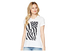 Lucky Brand Flag Rouched Back Tee