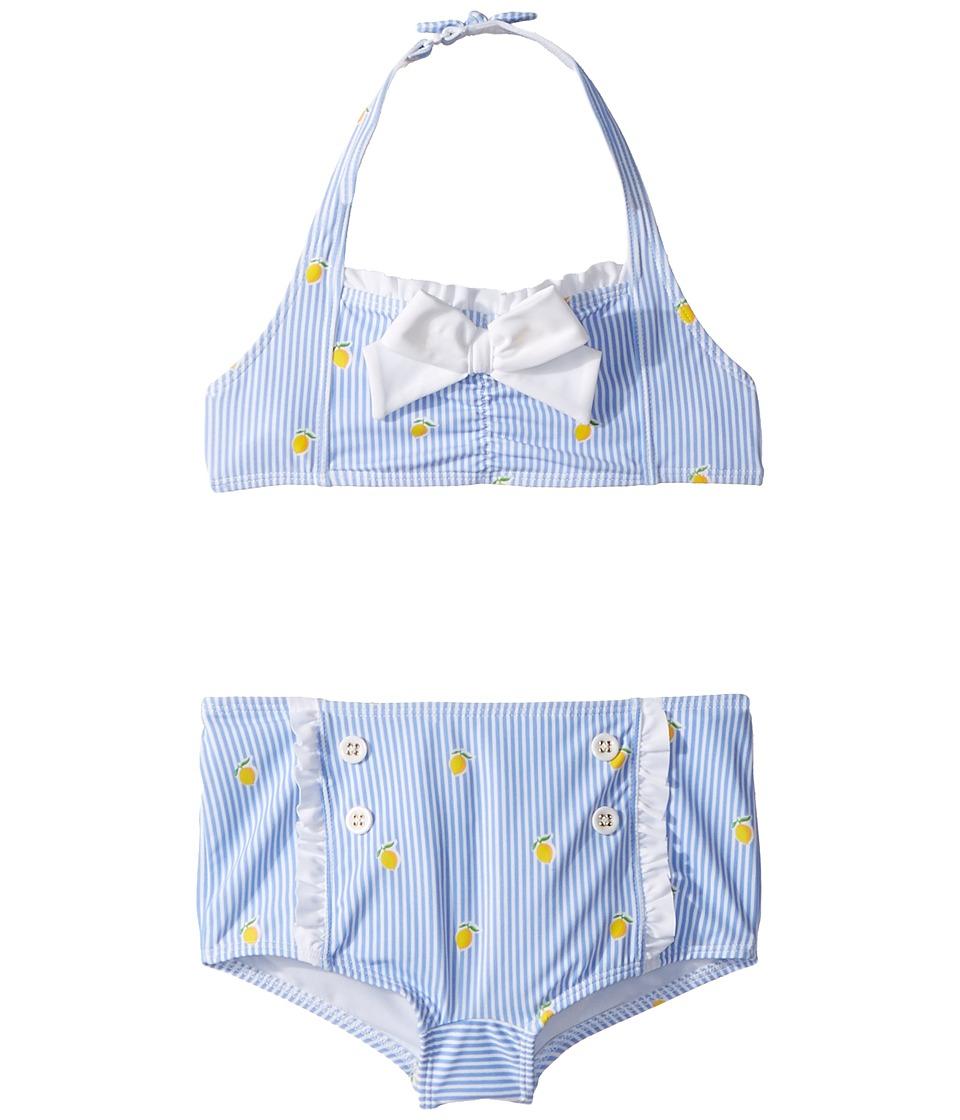Janie and Jack - Lemon Print Two-Piece Swim Set (Toddler/Little Kids/Big Kids) (Multicolor) Girls Swimwear Sets