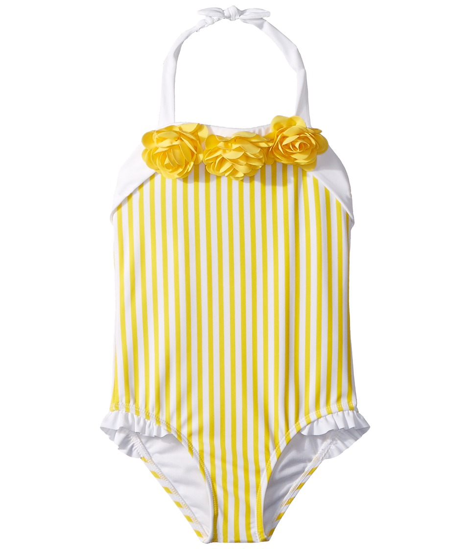 Janie and Jack - Yellow Stripe One-Piece Swimsuit (Toddler/Little Kids/Big Kids) (Yellow Cab) Girls Swimsuits One Piece