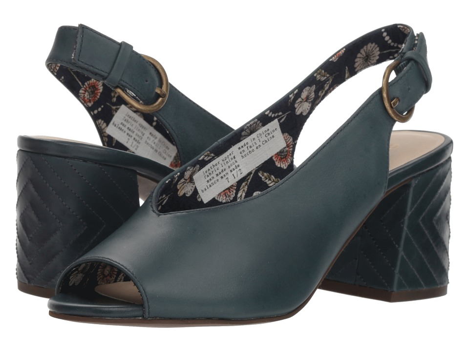 Seychelles Playwright II (Blue Leather) Women's Shoes