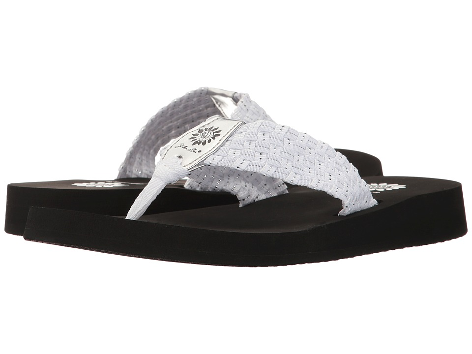 Yellow Box Soleil (White/Silver) Sandals