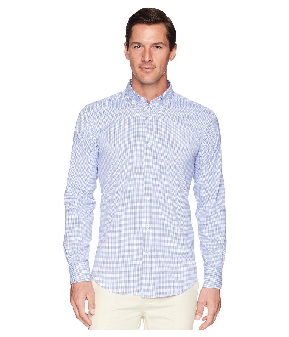 BUGATCHI - Long Sleeve Woven Shirt Shaped Fit (Pink) Mens Clothing