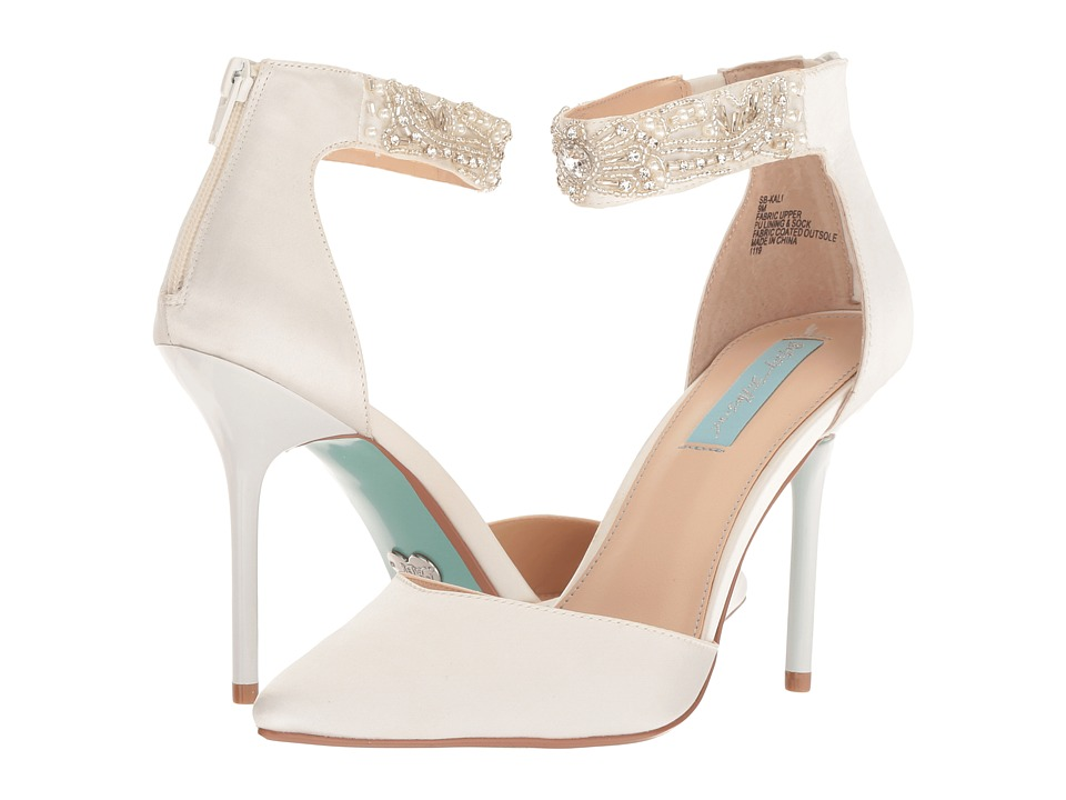 Blue by Betsey Johnson Kali (Ivory Satin) High Heels