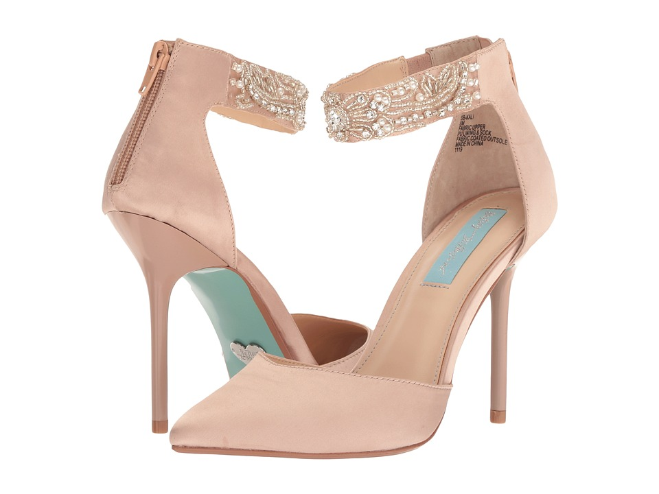 Blue by Betsey Johnson Kali (Nude Satin) High Heels