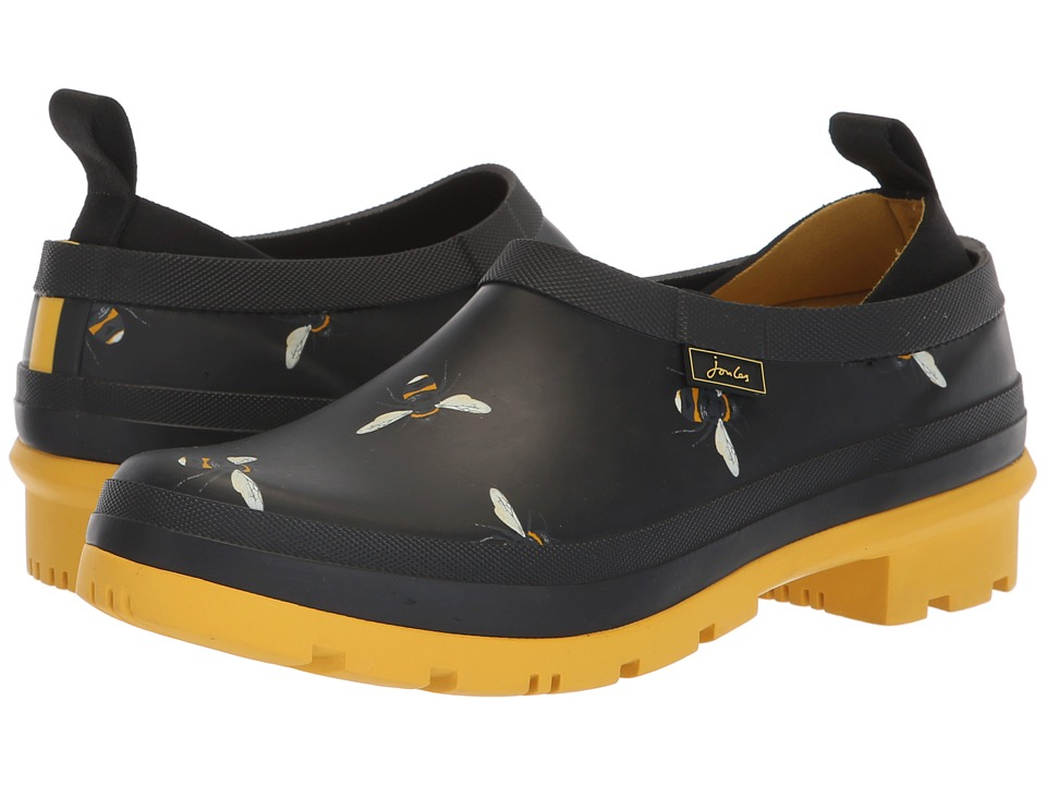 Joules Popons (Black Botanical Bees) Slip-On Shoes
