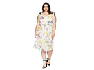 Donna Morgan Plus Size Embroidered Mesh Blouson Midi