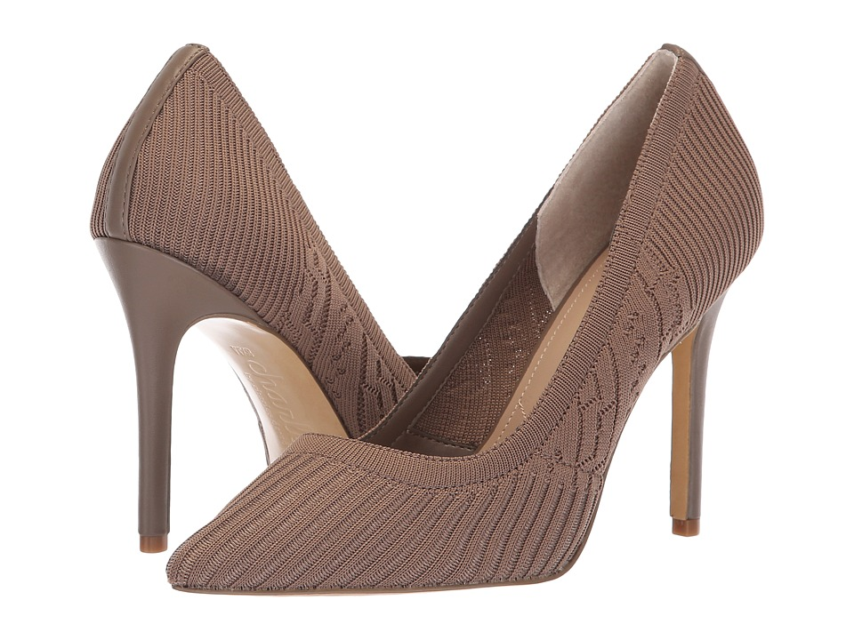 Charles by Charles David Pattie (Taupe Stretch Knit) High Heels