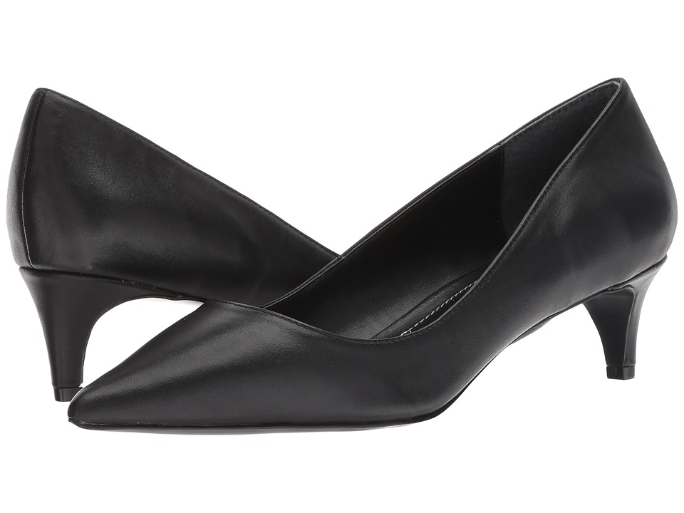 Charles by Charles David Kitten (Black Leather) 1-2 inch heel Shoes