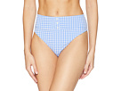 Nanette Lepore Capri Gingham Pin Up High Leg Bikini Bottom