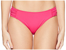 LAUREN Ralph Lauren LAUREN Ralph Lauren Beach Club Solids Shirred Side Tab Hipster Bottom