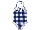 Janie and Jack Gingham Eyelet One-Piece Swimsuit (Toddler/Little Kids/Big Kids)