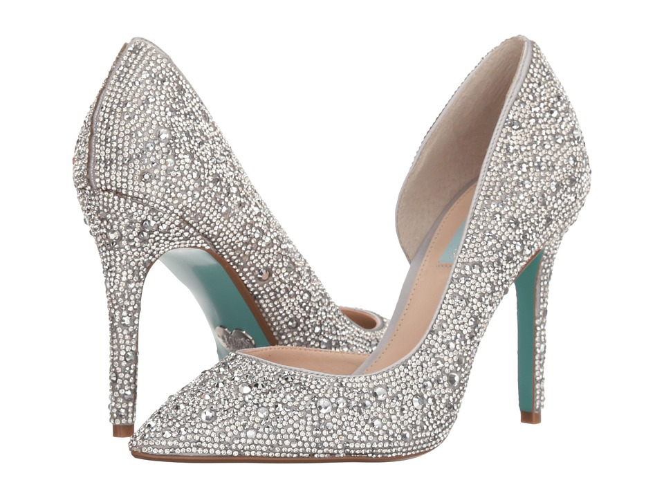 Blue by Betsey Johnson Hazil (Silver Satin) High Heels
