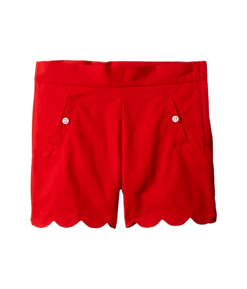 Janie and Jack - Scalloped Shorts with Side Pockets (Toddler/Little Kids/Big Kids) (Moto Red) Girls Shorts