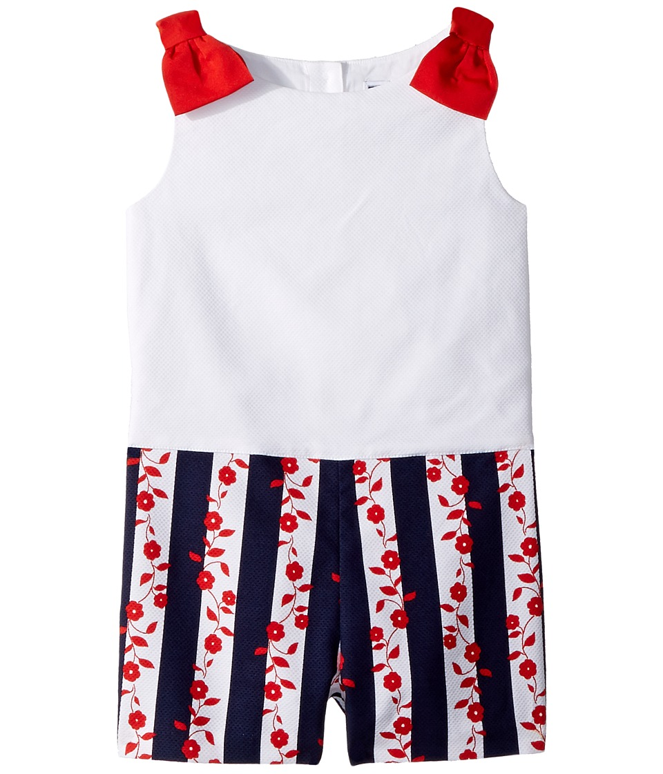 Janie and Jack - Floral Stripe Romper (Toddler/Little Kids/Big Kids) (Multicolor) Girls Jumpsuit & Rompers One Piece