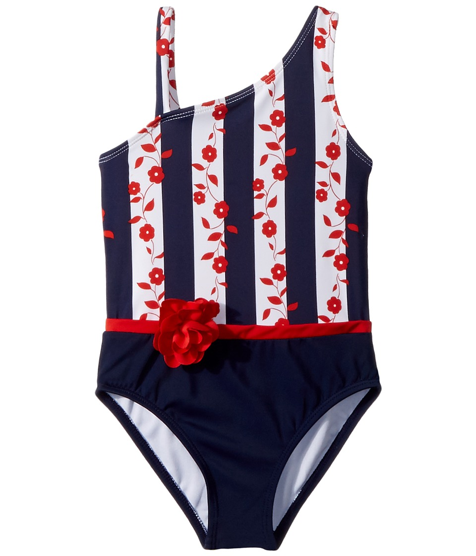 Janie and Jack - Colorblocked One-Piece Swimsuit (Toddler/Little Kids/Big Kids) (Multicolor) Girls Swimsuits One Piece