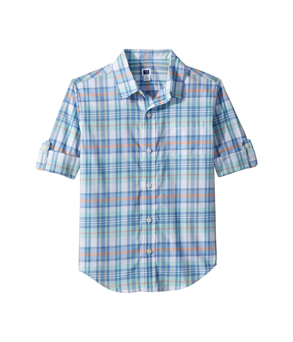 Janie and Jack - Roll Sleeve Button-Up Shirt (Toddler/Little Kids/Big Kids) (Multicolor) Boys Long Sleeve Button Up