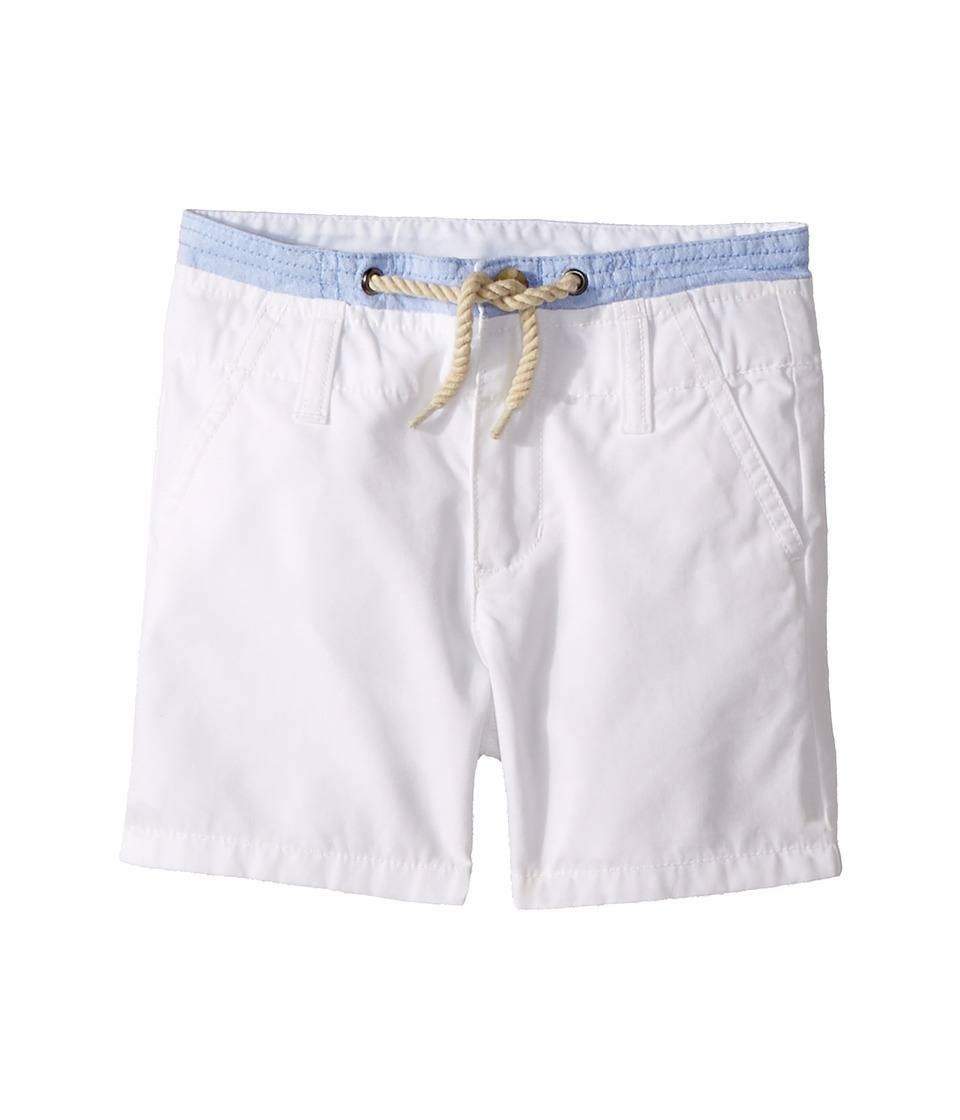 Janie and Jack - Double Waistband Flat Front Shorts (Toddler/Little Kids/Big Kids) (White) Boys Shorts