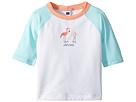 Janie and Jack Short Sleeve Flamingo Rashguard (Toddler/Little Kids/Big Kids)