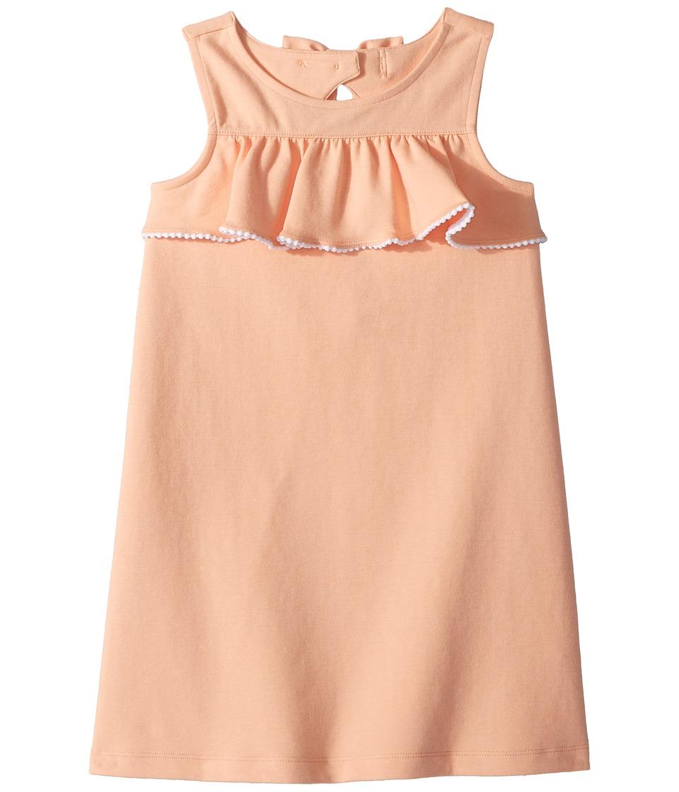 Janie and Jack - Ruffle Front Dress (Toddler/Little Kids/Big Kids) (Peach Perfection) Girls Dress