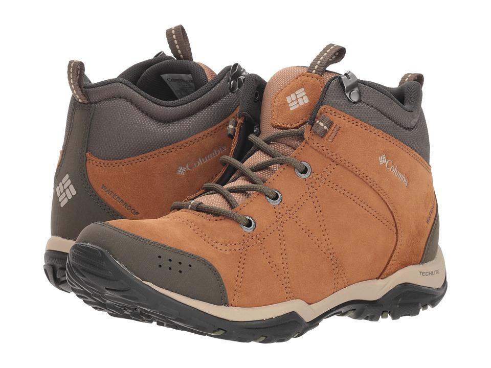 Columbia Fire Venture Mid Waterproof (Elk/Ancient Fossil) Women's Waterproof Boots