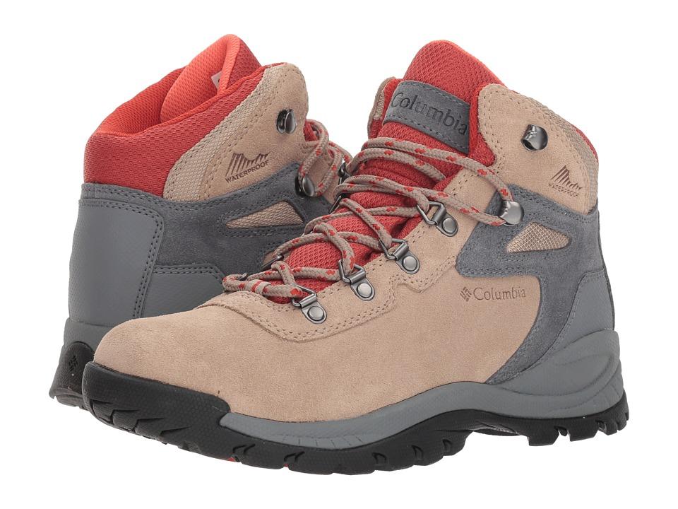 Columbia Newton Ridge Plus Waterproof Amped (Oxford Tan/Flame) Women's Shoes
