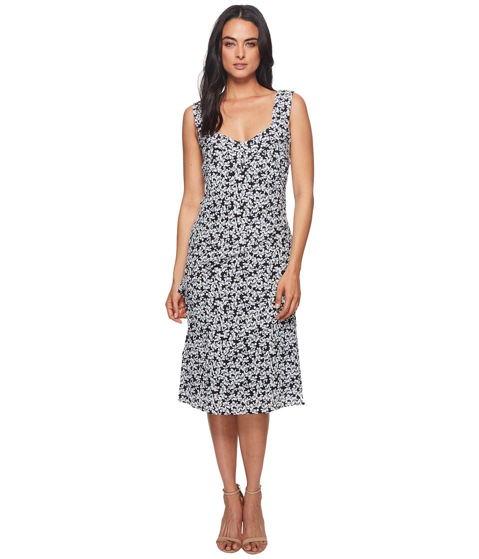 Nicole Miller - Asymmetrical Pleated Dress (Black/White) Womens Dress