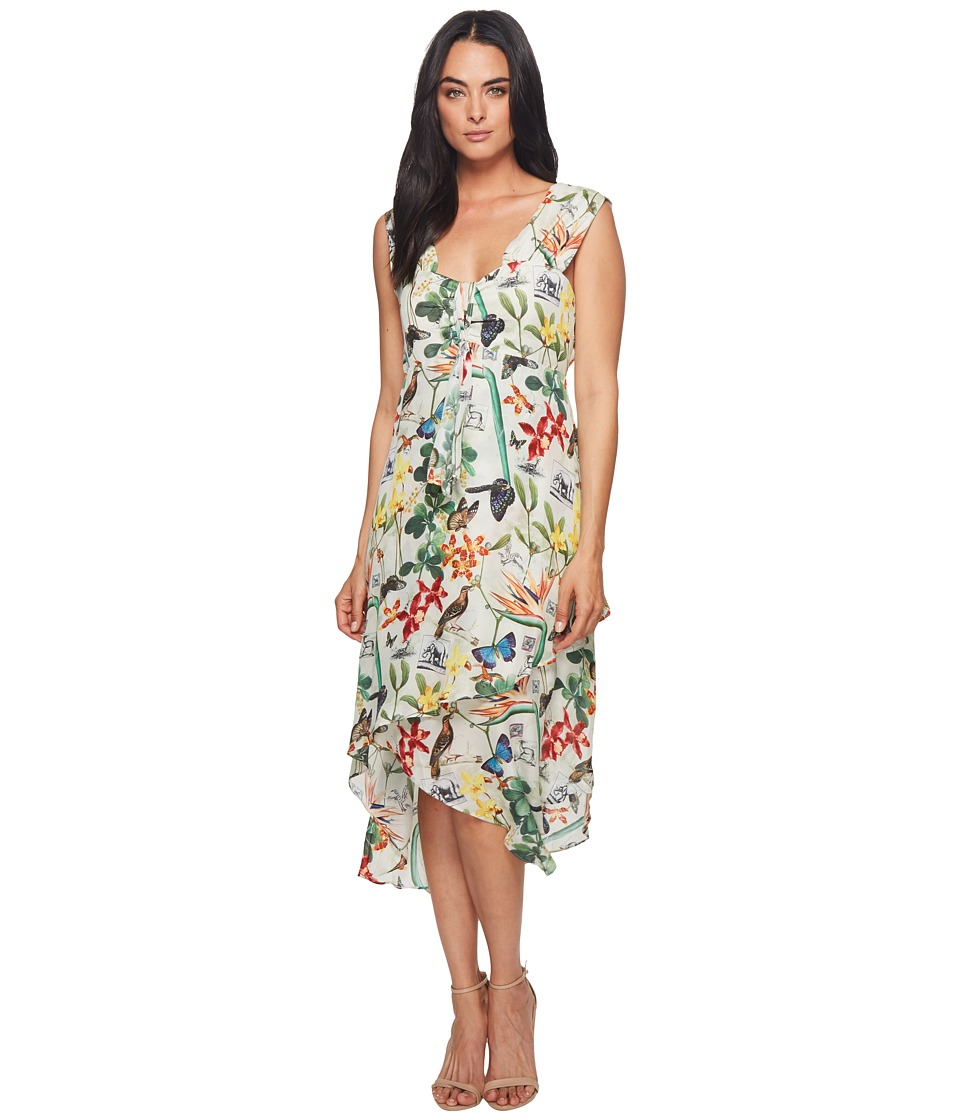 Nicole Miller - High-Low Ruffle Dress (Multicolored) Womens Dress