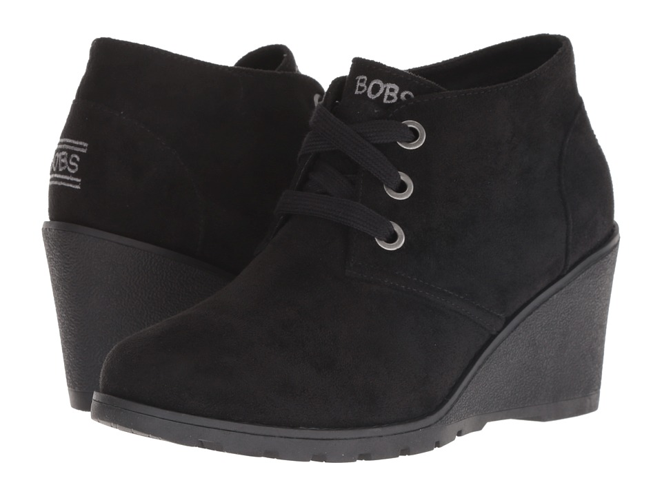 BOBS from SKECHERS Tumble Weed - Urban Rugged (Black/Black) Women's Lace-up Boots