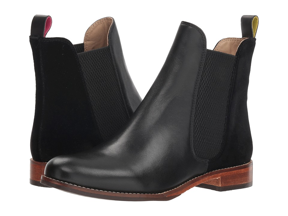Joules Leather Chelsea Boot (Black Velvet)